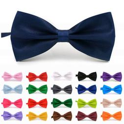 23 Styles Adjustable Men Bow Ties Neck Clip-on Satin Dickie
