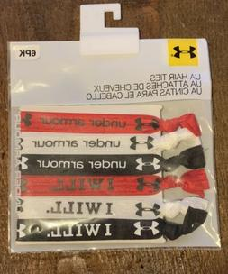 6 Under Armour UA Stretchy Elastic Hair Ties Colorful I Will