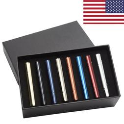 8pcs Mens Business Stainless Steel Ties Necktie Clasp Pin Ti