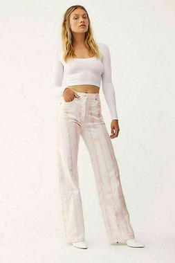 Citizens of Humanity Annina Rosewater Tie Dye Trouser Jeans