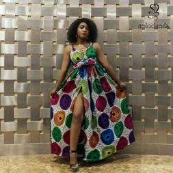 Beautiful high quality  africa wrap dress made with %100 cot