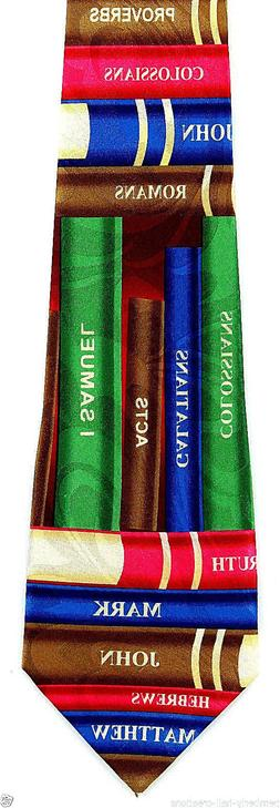 Books Of The Bible Mens Neck Tie Religious Chapter Verse Chr