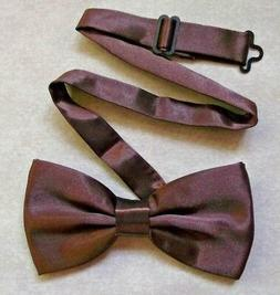 Bow Tie Mens NEW Bowtie Adjustable Dickie CHOCOLATE BROWN