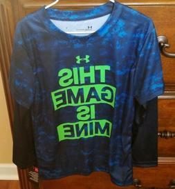 Under Armour Boys LS Tee *This Game Is Mine* Size 6 NWT