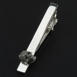Business Charming Men 2.36 inches Length Skull Tie Clasps Clips Personalized