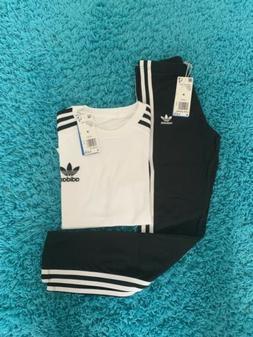 adidas California Tee Kids' with leggings outfit set size Me