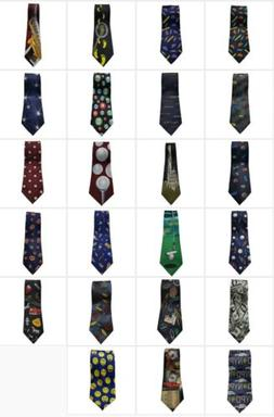Closeout Wholesale Lot Of 10 Assorted New Men's Novelty Neck