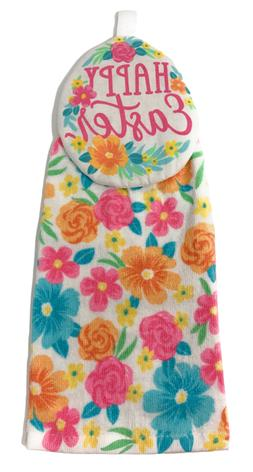Northeast Home Goods Cotton Kitchen Tie Towel Floral Happy E
