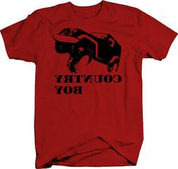 Country Boy Off Road 4x4 muddin Color T shirt for Men graphi