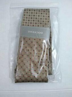 Dockers Gold And Brown Geometric Silk Tie