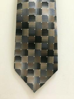 Van Heusen Gray, Black, White, Tan , Brown 100% Silk Men's N