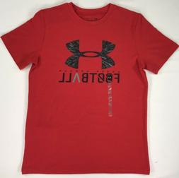 UNDER ARMOUR HEATGEAR BOYS GRAPHIC LOOSE FIT TEE YLG, RED 13