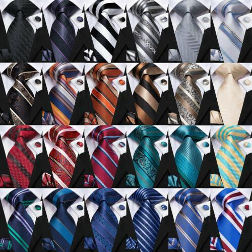 999 Mens Silk Set Red Black Striped TIES