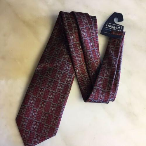 collections tie maroon red gray rectangle silk