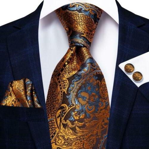gold blue brown paisley usa mens tie