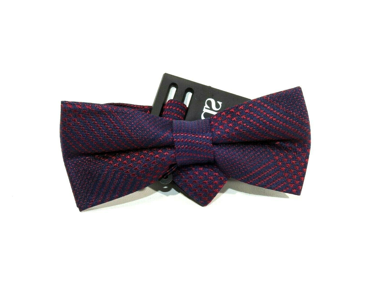kids red navy pattern bow tie one