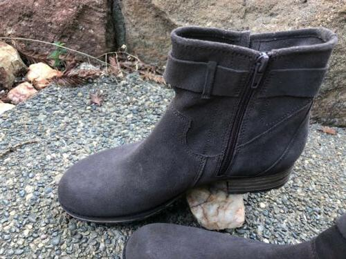 Clarks Amber Gray Womens Shoes 8.5 M