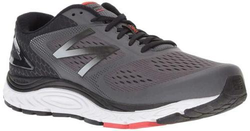 New Balance 840v4 Lace, Magnet/Energy Red, Size 11.5