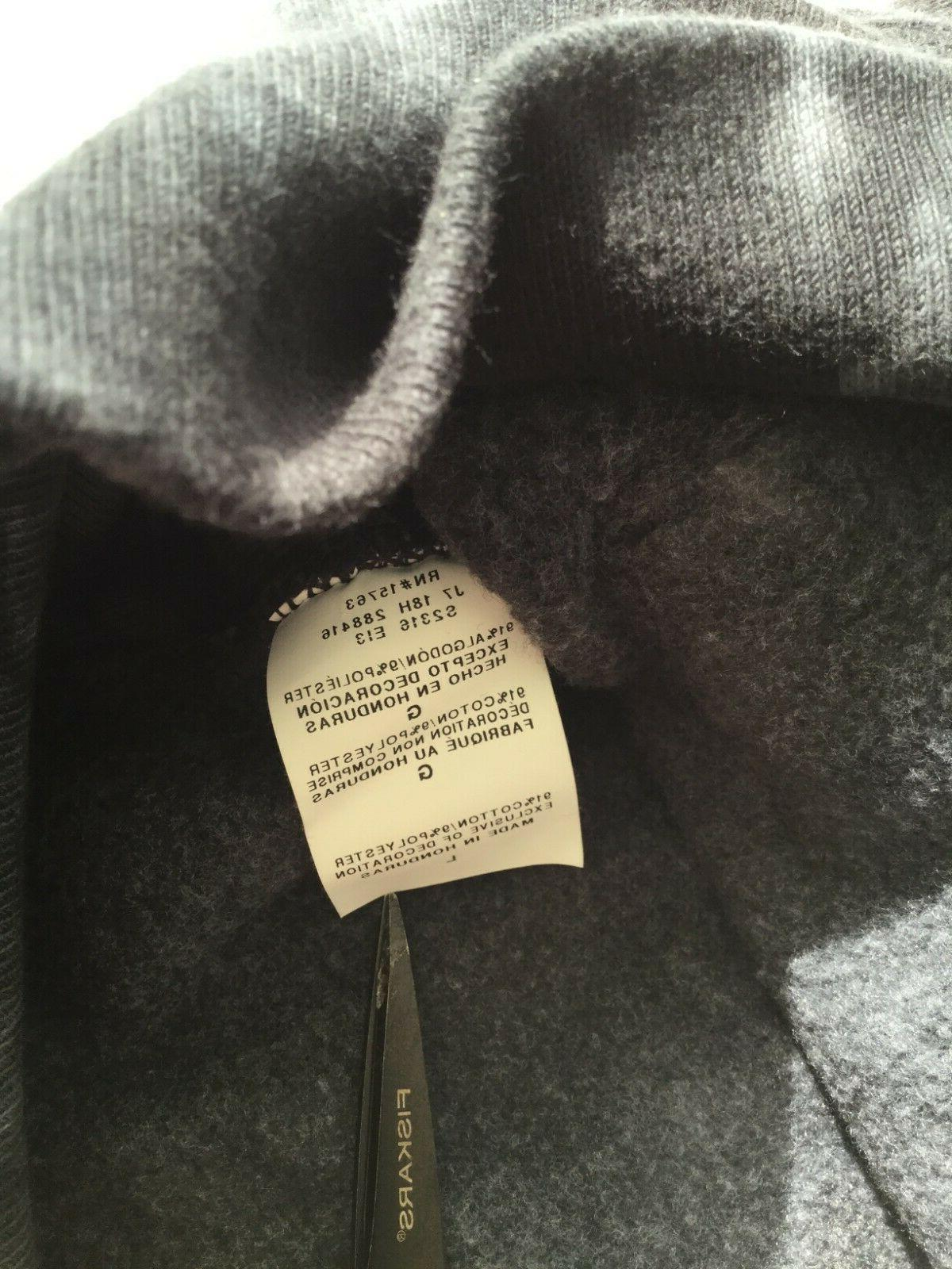 Hoodie NWT Silver Foil Spell Out Heavy -
