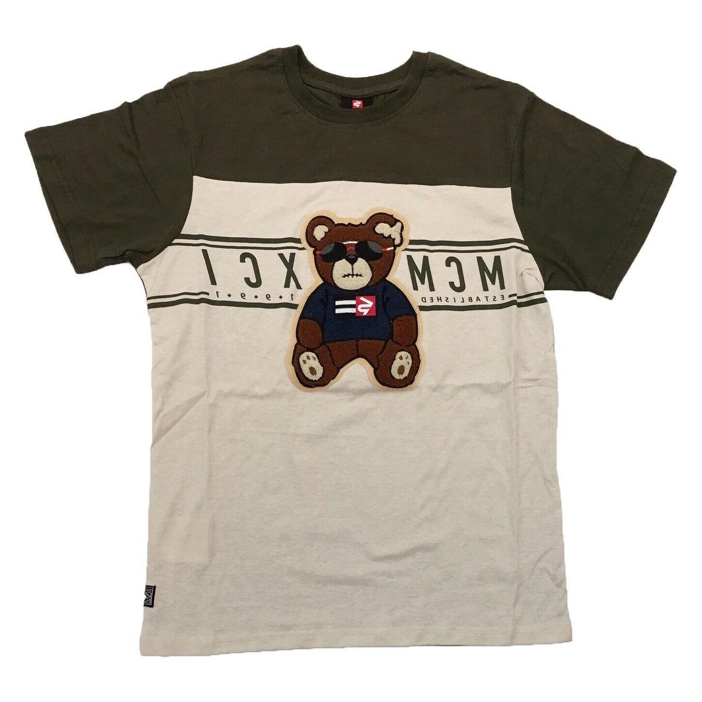 new w tag mens bear patch embroidered