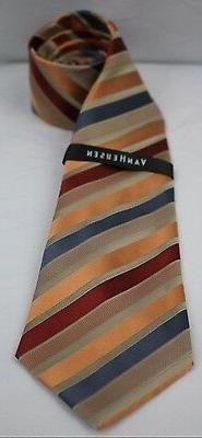 NWD Van Heusen Fashion Spinner Union Stripe 100% Silk Men's
