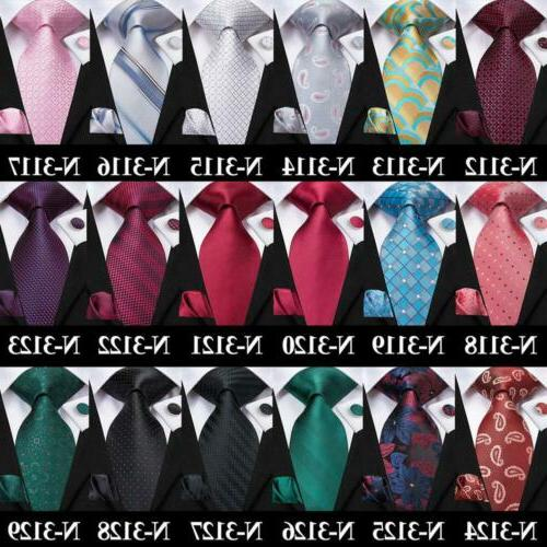 USA 300 Colors Red Pink Gold Silk Men's Tie Set