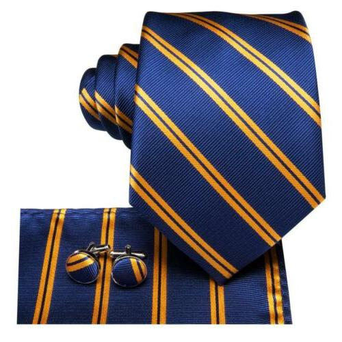 USA 500 Color Blue Gold Yellow Red Men's Tie Necktie