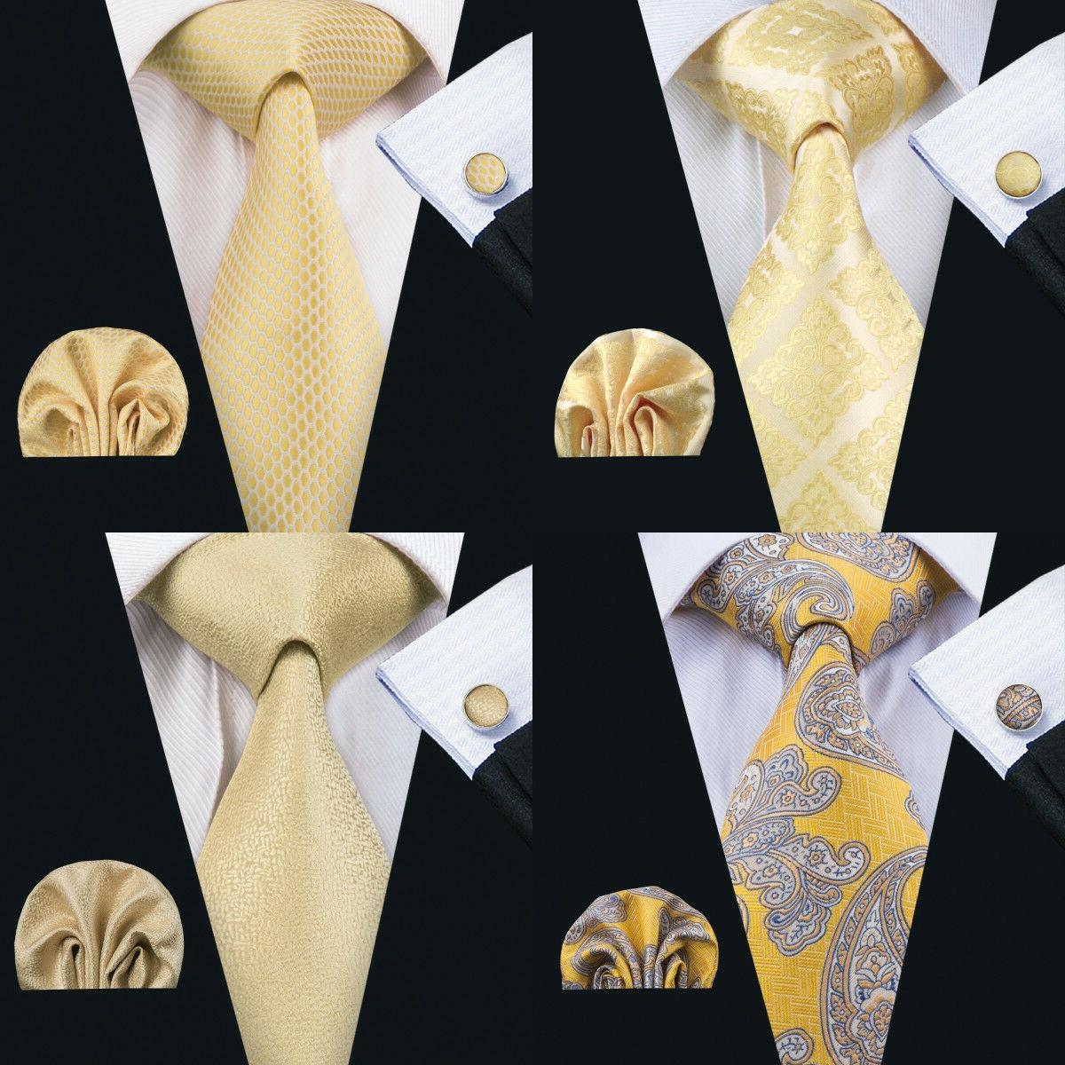 usa classic men ties silk solid gold
