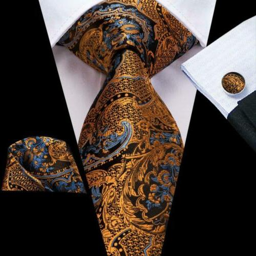 usa golden yellow floral men s tie