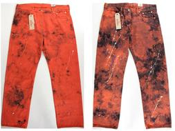 Levi's 569 Loose Straight fit Tie Dye Paint spill Jeans- NEW