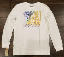 Levi's Boys Long Sleeve Graphic Tee T-Shirt Sizes M, L, XL M