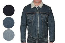 Levi's Mens Type III Sherpa Denim Trucker Jacket