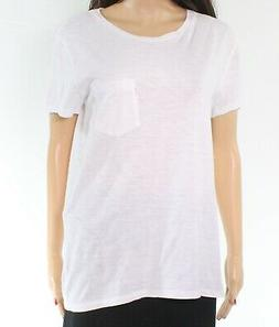 Levi's NEW White Women's Size Medium M Knit Top Pocket Tee T