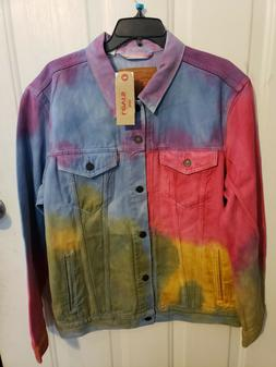 Levi's Tie Dye Rainbow Denim Jacket Men's XL