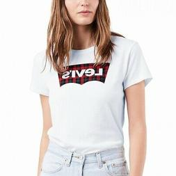 Levi's Women's Top White Size XL Knit The Perfect Tee T-Shir
