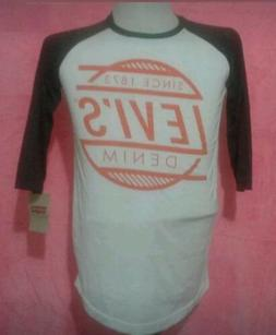 LEVIS Big Boys 3/4 Sleeve Raglan Tee Shirt Size