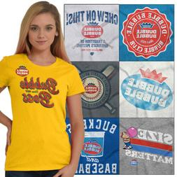Licensed Candy Tees Dubble Bubble T-Shirts For Ladies Womens