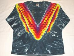 Fruit of the Loom Lofteez Tie Dye T-Shirt XXL 2XL Multicolor