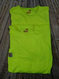Carhartt Men High Visibility Force Color Long Sleeve Tee XL
