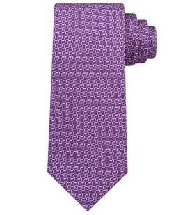 Michael Kors Men's 3'' Geometric Silk Neck Tie, Purple, One