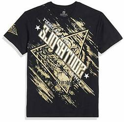 Southpole Men's Classic Graphic Tee Black Big Tiger Large