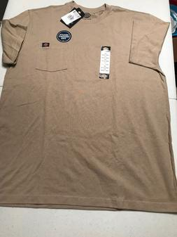 Men's Dickies Heavy Weight Pocket Tee Shirt Size XLT NWT Bei