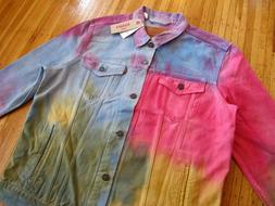 Men's LEVI'S Tie Dye Wash Multicolor Denim Jacket XL rare je