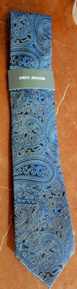 MICHAEL KORS Men's PERFECT MOVEMENT BLUE PAISLEY Neck Tie SI