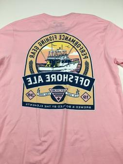 Columbia Men's PFG Graphic Offshore Ale T-Shirt Pink Size Me