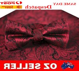 MENS BOW TIE AND POCKET SQUARE Hanky Handkerchief Wedding Pa