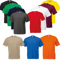 MENS CREW ROUND NECK FRUIT OF THE LOOM BOYS SUMMER COTTON PL