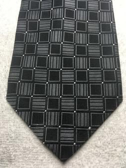 GEOFFREY BEENE MENS TIE BLACK AND GRAY 4 X 58 NWT