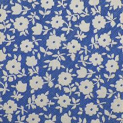 MICHAEL KORS Mens Tie Blue Ivory FLORAL Woven Silk Blend Mad