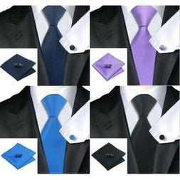 Mens Wedding Party Woven Silk Necktie and Pocket Square Hank